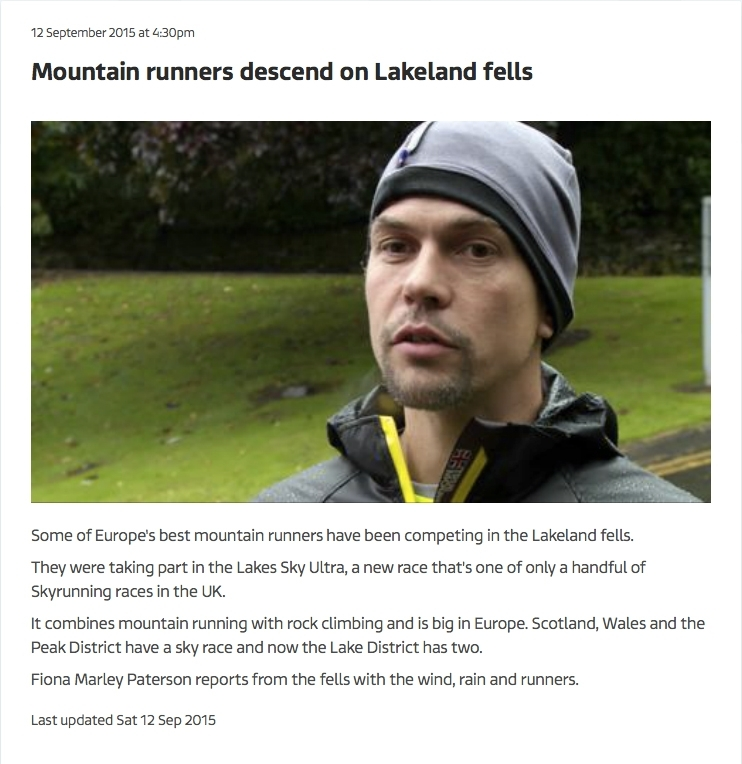 Mountain runners descend on Lakeland fells