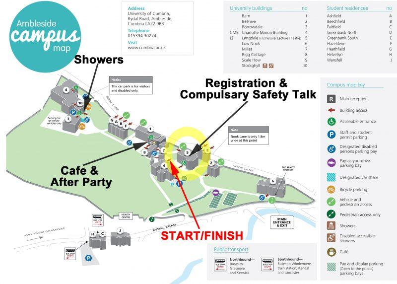 Map Uni Cumbria Ambleside Campus Updated Image